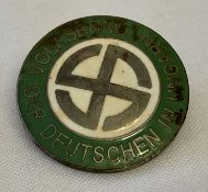 A WWII style Hungarian Nazi pin back lapel badge.