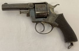 An antique .442 R.I.C. Belfast No. 1 First revolver by Webley 1890/91. With wooden grip.