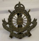 A British WWI City of London Cyclists Cap badge with slider fixing.