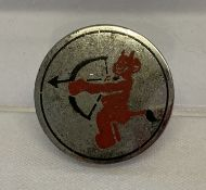 A WWII style German Luftwaffe Jagdgeschwader 52 Fighter wing lapel pin back badge.