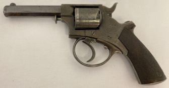 An antique Tranter .320 British long revolver marked J Blanch & Son, Grace Church St, London.