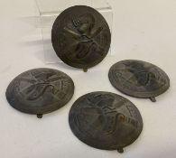 4 French Adriane helmet Tank Corps badges.