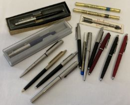 A collection of vintage pens. 9 vintage Parker ball point pens.