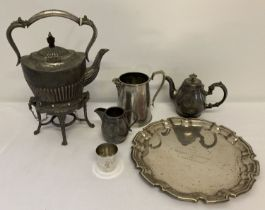 A collection of vintage silver plated and metal ware items.