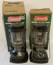 2 boxed Coleman Northstar dual-fuel lanterns.