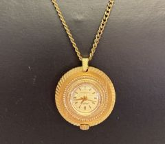A vintage pendant watch by Jako, on a 24 inch curb chain.