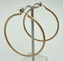 A pair of silver gilt large hoop earrings with diamond pattern by Veronese. Posts marked '925