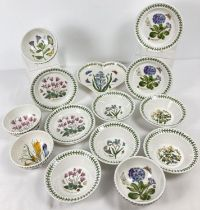 """A quantity of Portmeirion ceramic dinner ware with """"Botanic Garden"""" pattern. Comprising: 5 side"""