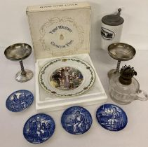 A collection of assorted vintage ceramics, glass and metal ware items. To include a boxed Royal