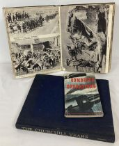 3 vintage military books. The First World War; A Photographic History, The Churchill Years and