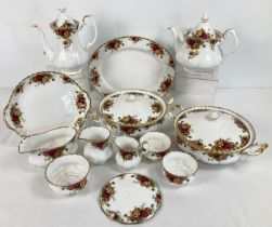 """A quantity of Royal Albert first quality """"Old Country Roses"""" tea and dinner ware. Comprising:"""