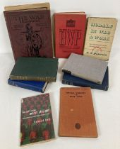 A collection of vintage military books. To include volume 6 of The War Illustrated, Special