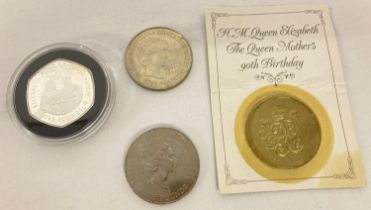 A collection of 4 commemorative £5 coins. Comprising: H.M. Queen Elizabeth The Queen Mother 90th