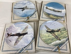 """4 boxed larger sized limited edition 'WWII Collection' collectors plates by Coalport. Comprising: """""""