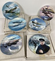 6 limited edition WWII series collectors plates by Royal Doulton, Royal Worcester and Coalport.