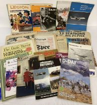 A collection of assorted vintage military related magazines, programmes & newspapers.