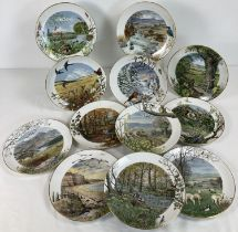 A set of 12 Ltd Edition Royal Worcester 1979 Franklin Mint months of the Year plates by Peter