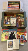 2 boxes of children's vintage story books and annuals.