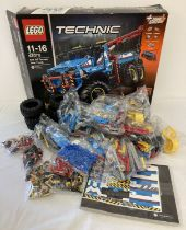 A Lego Technic 42070 6x6 All Terrain Tow Truck construction kit, unused in original packaging.