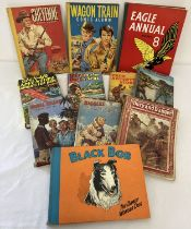 A small collection of vintage boys books and annuals.