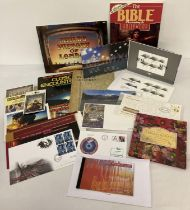 A quantity of assorted ephemera to include first day covers and commemorative stamp sets. Lot inc…