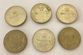 4 x 1994 Bank Of England Tercentenary £2 coins together with 2 x 1986 Commonwealth Games Scottish…