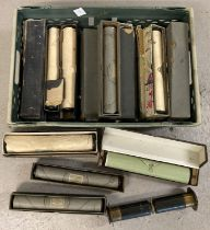 A quantity of approx. 22 assorted boxed pianola music rolls in original boxes. …