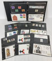 A folder of British first day covers and corresponding mint stamp sets dating from 1974-1979. To …