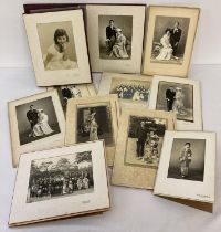 A collection of 11 vintage Japanese wedding photograph's in folded card covers. …