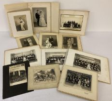 A collection of 12 assorted vintage Japanese Wedding, group and portrait photographs, mainly in f…
