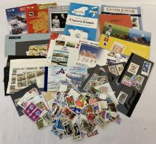A quantity of Jersey & Guernsey stamps and stamp related ephemera. To include: first day covers, …