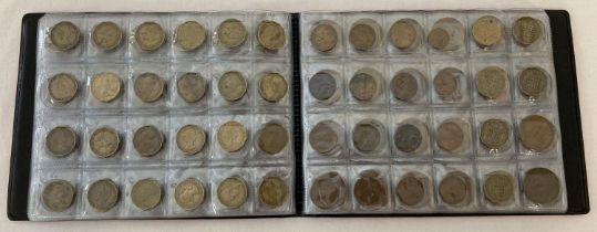 A Professional Coin Collection Book containing 120 coins. To include half pennies, farthings, th…