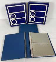 2 x empty blue Collecta philatelic covers albums complete with card cover sleeves. …