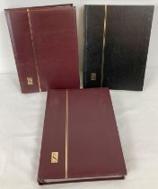 3 empty stamp stock books, in very good condition. …