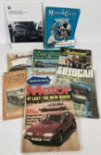A small collection of vintage 1950's and 60's motoring magazines to include Auto Car and Motor.
