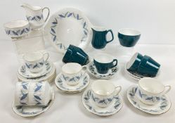 """2 mid century ceramic tea sets. A 6 setting Royal Standard set in """"Trend"""" pattern. Comprising: 6"""