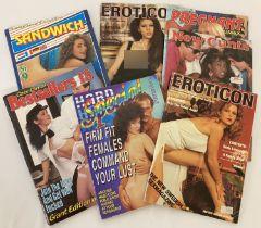 7 assorted smaller sized hardcore adult erotic magazines.