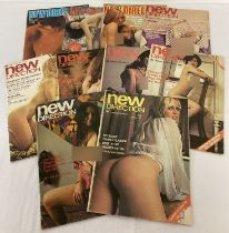 10 vintage issues of New Direction, adult erotic magazine.