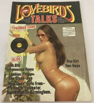 First issue of Lovebirds Talks, adult erotic magazine, issue no. 1.