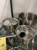 Lot de 3 chaudrons variés à induction