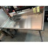 Table/ évier vaisselle droite # TEC 60 x 30 '' NEUVE