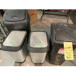 Lot de 4 receptacles à rebus