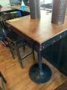 """(4) Tables de bar hautes - bois - Style Butcher Block 30 x 24"""""""