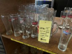 Lot de 100 + verres de bières ++ variés