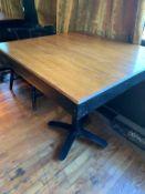 """(6) Belles Tables bois - style butche block 30 x 30 """" - QUANTITÉ X PRIX MISÉ"""