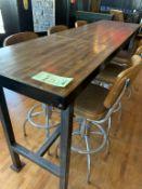 """Superbe table de bar - 6 personnes- bois , 90 """" x 24"""""""