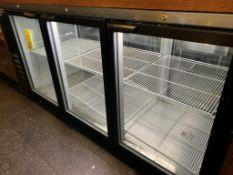 """Super frigo back bar -Double coté- 6 portes vitrées -3 chaque coté- BEV AIR # BB 78G1B-PT-79 x 31 """""""