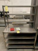 """Table travail / rangement sur roues avec passe plat - 44 x 30"""""""