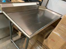 Table de vaisselle propre # TC 48 30 - 48 x 30 - gauche NEUVE
