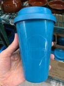 """Lot de 35 tasses a café pour emporter """"LA TASSE a/dessus - plastiques"""
